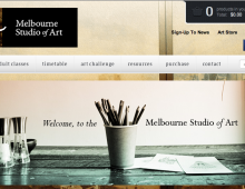 Melbourne Studio of Art: Web Design & Development