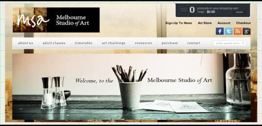 Melbourne Studio of Art: Web Design & Development